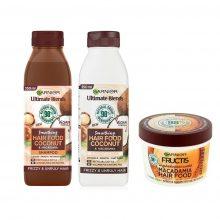 پک محصولات نارگیل ماکادمیا گارنیر (شامپو، نرم کننده و غذای مو)