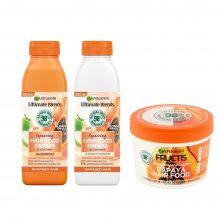 پک محصولات  پاپایا گارنیر (شامپو، نرم کننده و غذای مو)